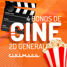 Cinemark: 4 Bonos de Cine 2D General