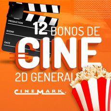 Cinemark: 12 Bonos de Cine 2D General