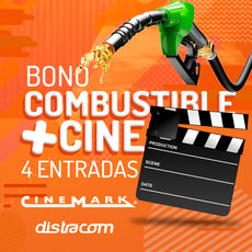 Combo: Bono Combustible Distracom + 4 Bonos de Cinemark 2D General