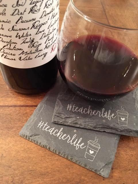 #teacherlife Slate Coasters Set of 2