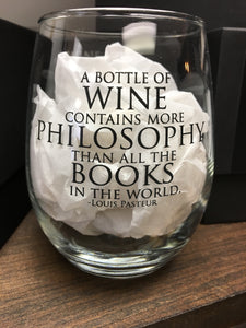 Philosophy Stemless Wine Glass