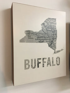 Buffalo Map Wall Art