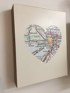 Buffalo Heart Map Wall Art