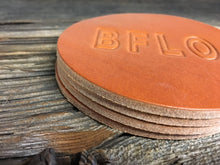 Load image into Gallery viewer, BFLO Leather Coaster Set