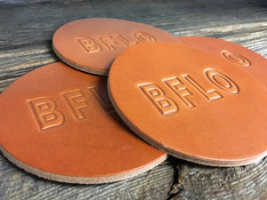 BFLO Leather Coaster Set