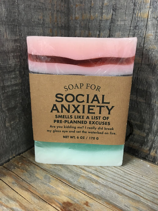 Social Anxiety Bar Soap