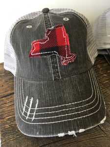 Buffalo Check New York State Trucker Cap