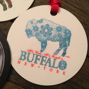Winter Buffalo Ornament