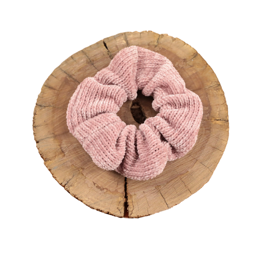 Scrunchie - Dusty Pink knit