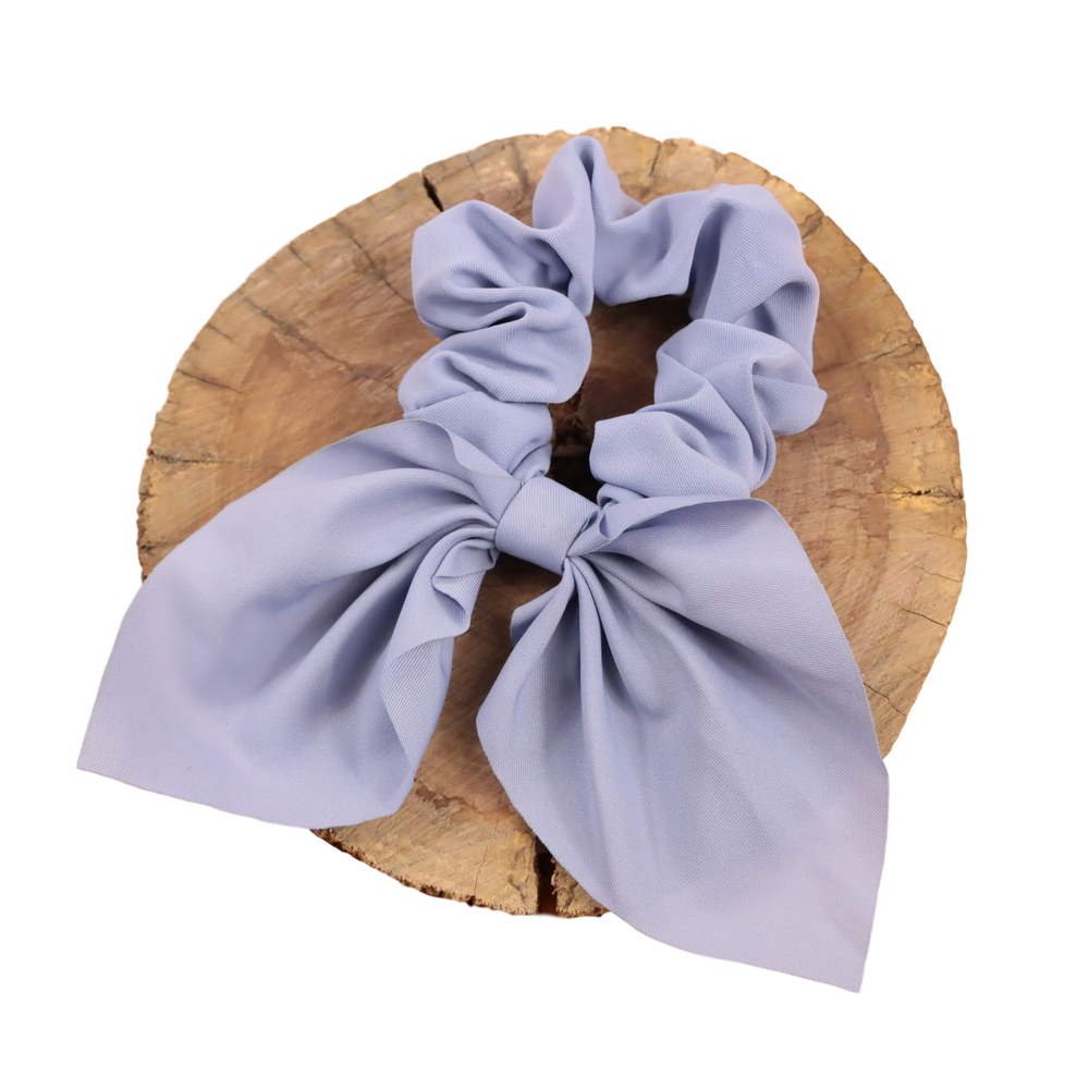 Scrunchie - Dusty Blue Bow