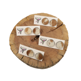 Round Cowhide Placemat 001
