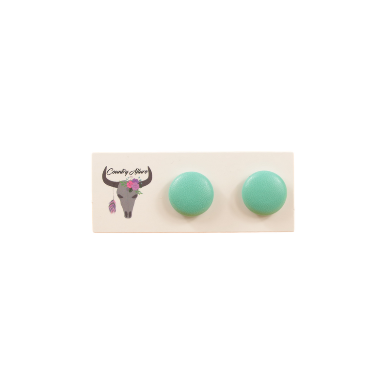 Faux Stud - Teal - 15mm
