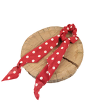 Scrunchie - Red Large Polkadot
