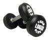 5-50LB RUBBER CUSTOMIZED DUMBBELL SET WITH 3-TIER RACK