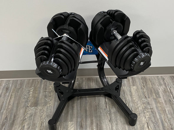 SALE - SFE 10-90lbs Adjustable Dumbbells and Stand (NEW)