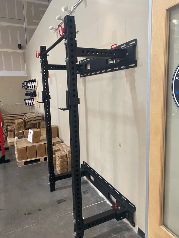 "SFE Wall Mount Power Rack 3"" by 3"" - Fold Back - 90"""