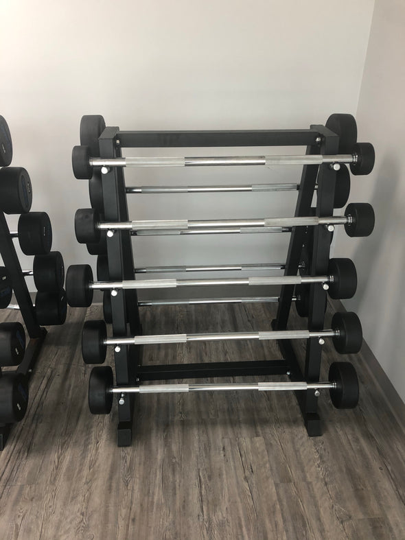 SFE Rubber Fixed Straight Barbell SET 20LBs - 110LBs with Rack