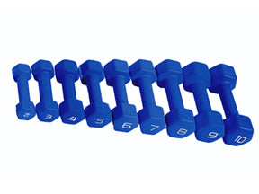SFE Blue Neoprene Dumbbells