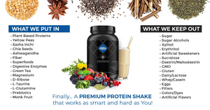POSITIVE INPUT® Premium Plant-Based Protein Powder | Clean Eating. Clean Living | Power Trio