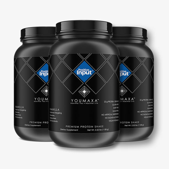 YOUMAXA® POSITIVE INPUT - Premium Protein Shake - Power Trio (Bundle Pack)