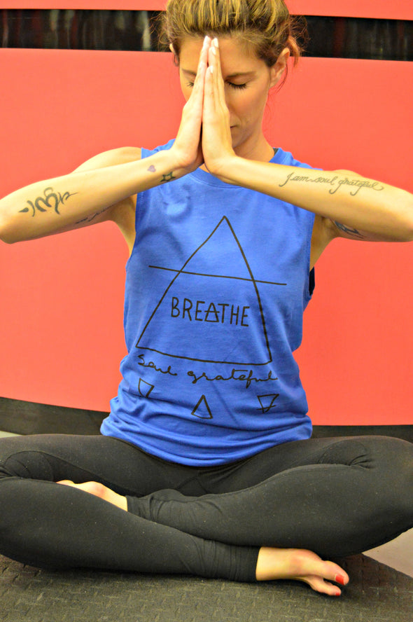 Breathe Soul Grateful Unisex Muscle Tank