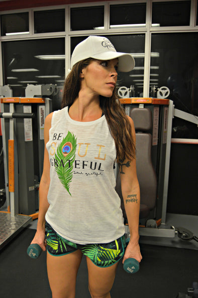 Be Soul Grateful Flowy Muscle Tank