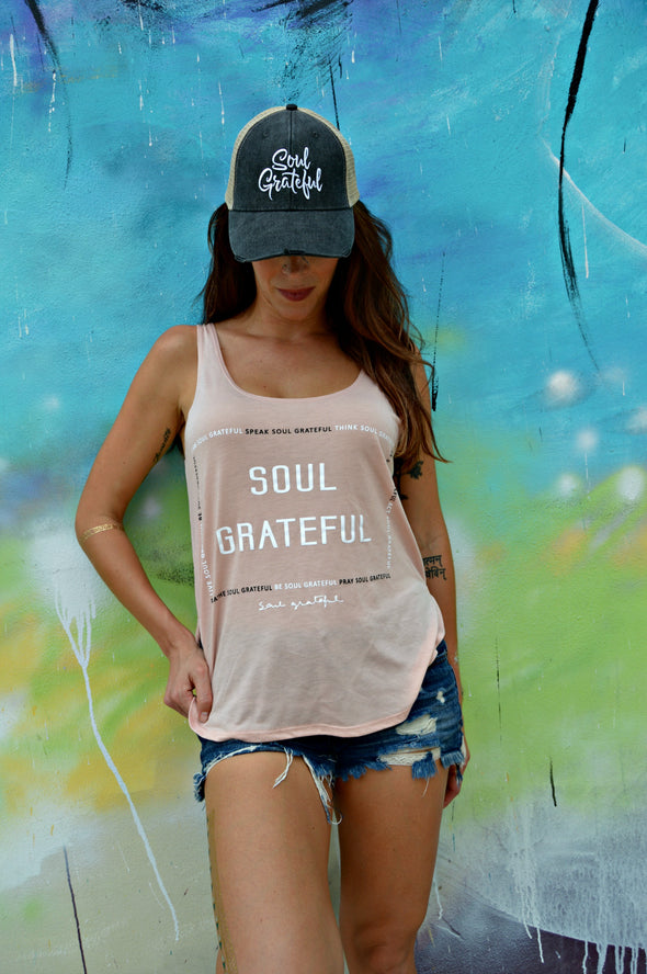 The Soul's Daily Chants Flowy Side Slit Tank