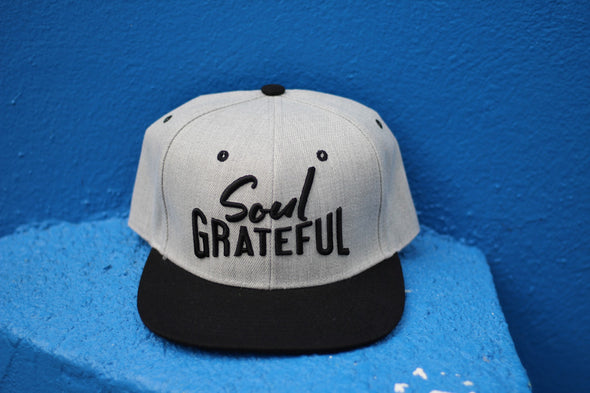 Soul Grateful Snapback Hat (Heather Gray/Black)