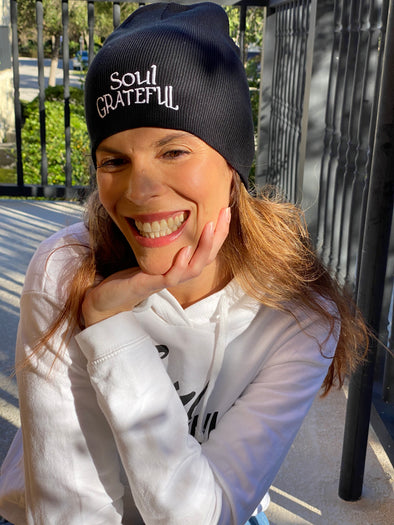 Soul Grateful Black Beanie