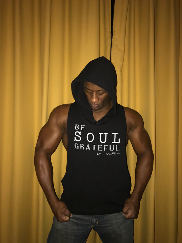 Be Soul Grateful Stringer Tank Top Hoodie