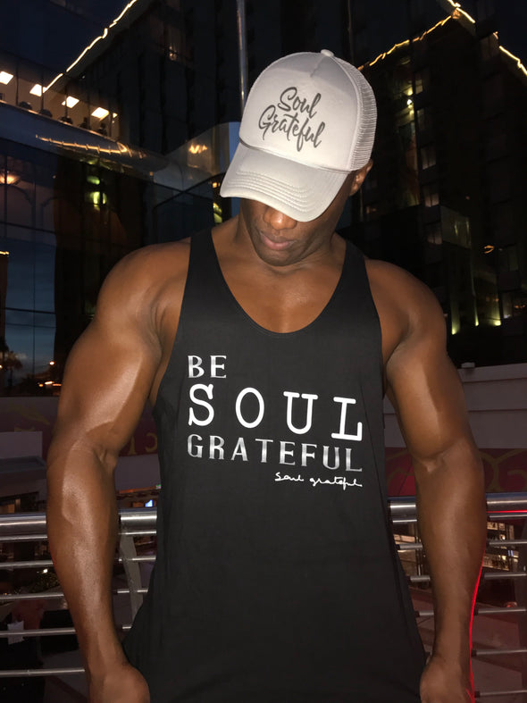 Be Soul Grateful Athletic Cut Workout Tank Top