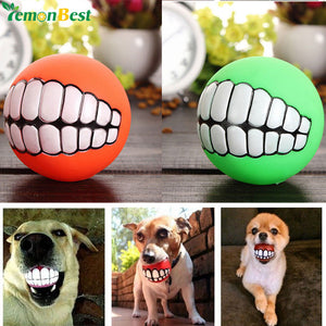 Cute Pet Product Pet Ball Toys Puppy Cat Dog Funny Ball Teeth Silicon Toy Chew Sound Dogs Play Toys Squeaker Squeaky Sound Ball
