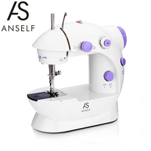 Mini Sewing Machines Handheld Dual Speed Double Thread Multifunction Electric Mini Automatic Tread Rewind Sewing Machine