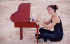 Michelle Schumann playing piano