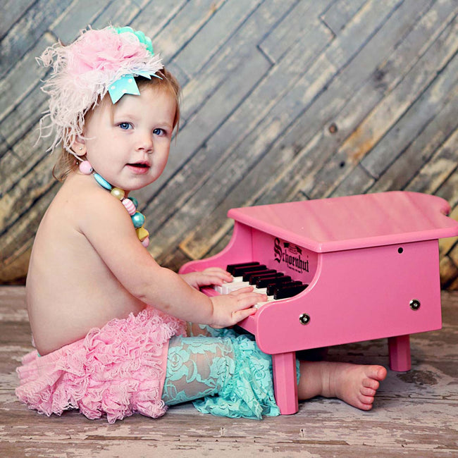 Schoenhut Mini Grand Piano 18-Key Pink