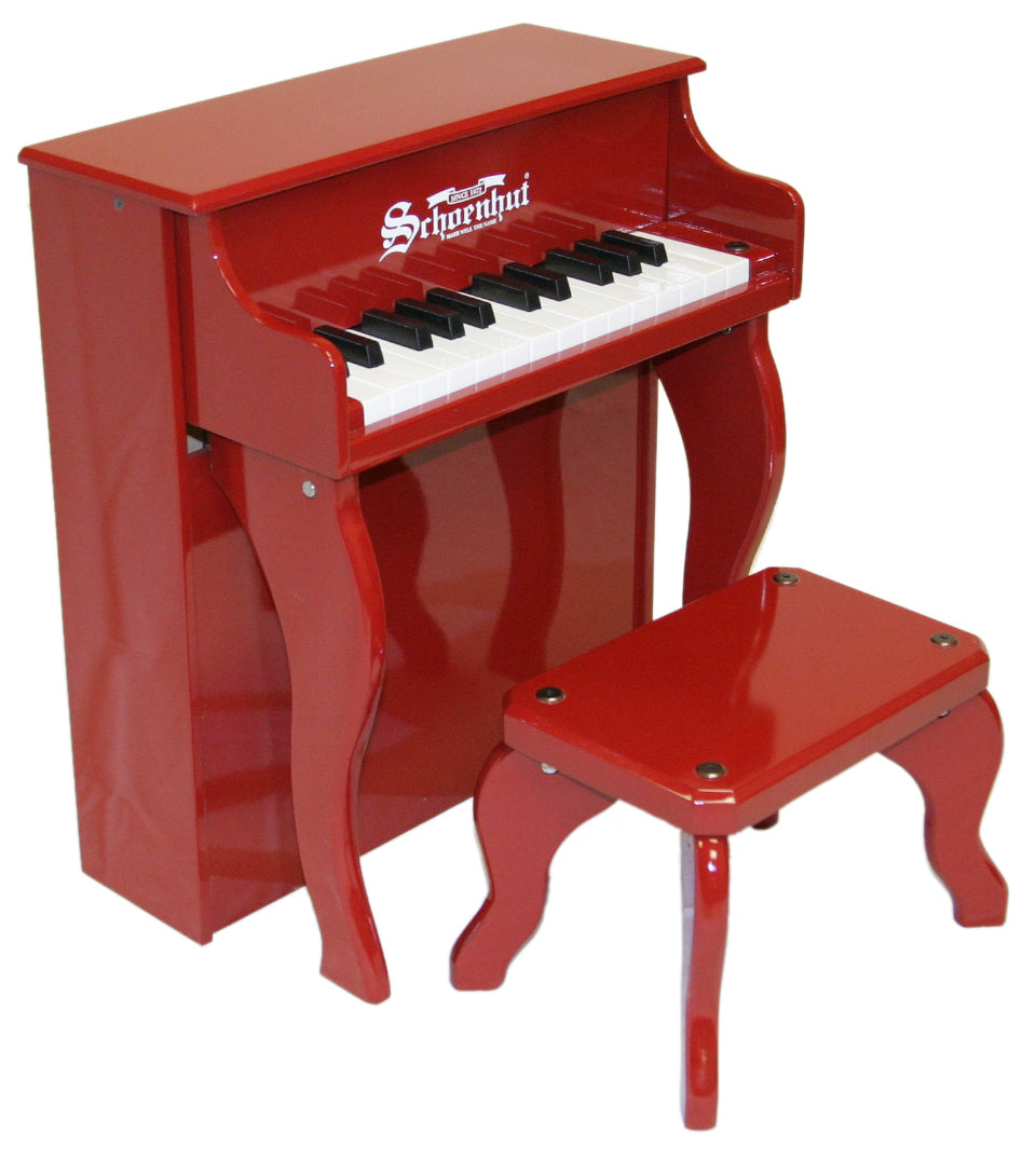 Schoenhut Elite Spinet Piano 25-Key Red