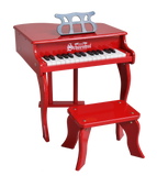 Schoenhut Fancy Baby Grand Piano 30-Key Red
