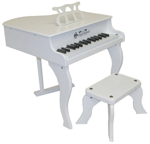 Schoenhut Elite Baby Grand Piano 37-Key White