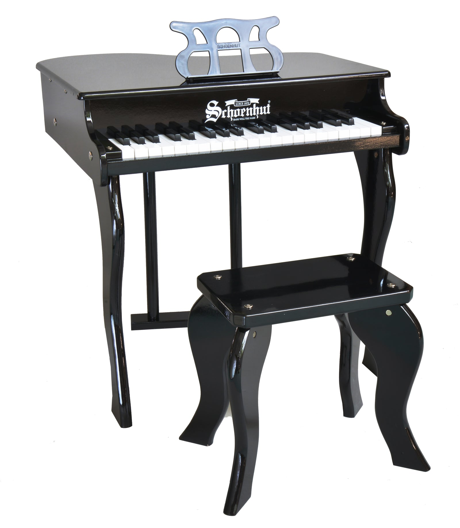 Schoenhut Elite Baby Grand Piano 37-Key Black