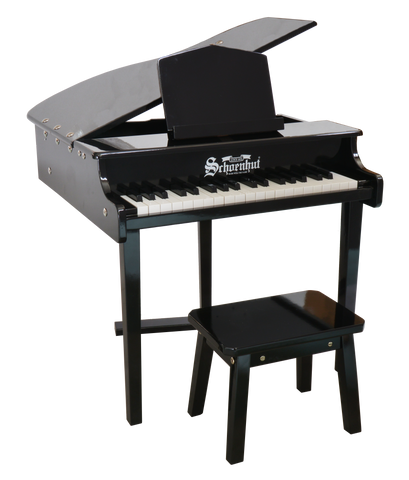 Schoenhut Fancy Baby Grand Piano 30-Key Black