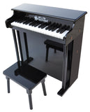 Schoenhut Traditional Deluxe Spinet Piano 37-Key Black