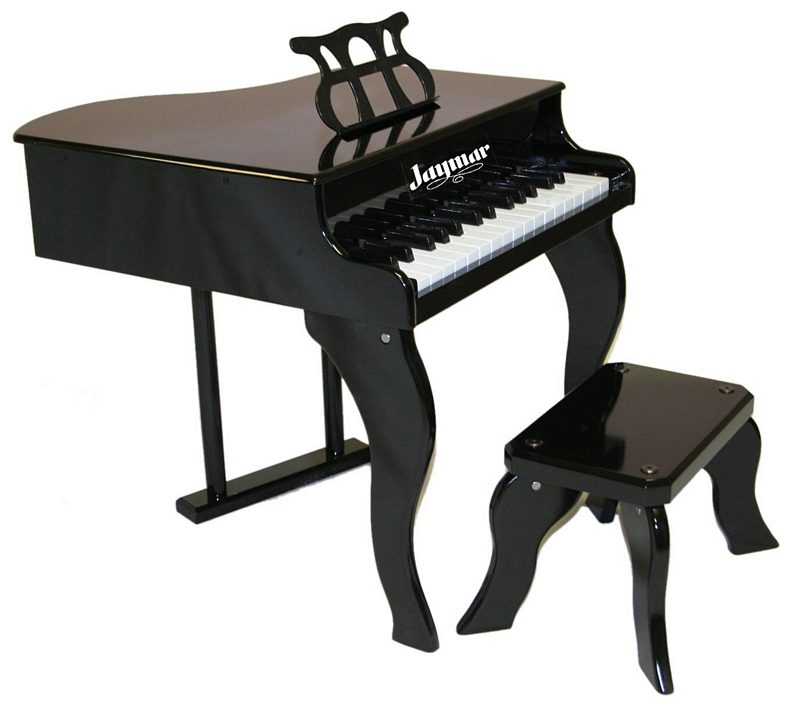 Jaymar Fancy Baby Grand Piano with Bench 30-Key Black