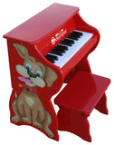 Schoenhut Piano Pals Dog w/ Bench 25-Key Red