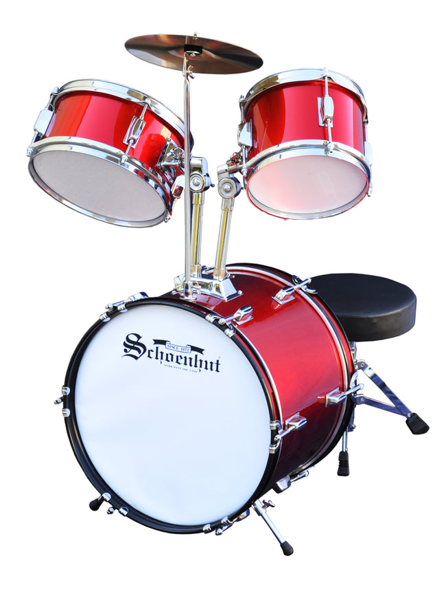 Schoenhut 5-Piece Drum Set Red