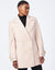 Ivory Recycled Faux Wool Peacoat