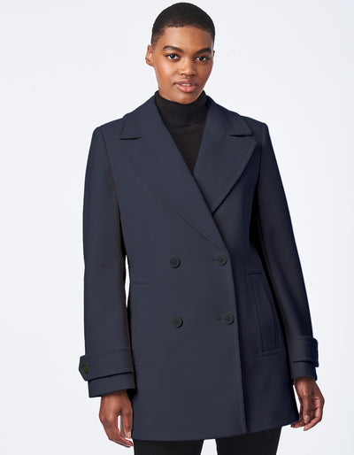 Recycled Faux Wool Peacoat