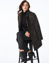 Wildcat Printed Wool Coat with Button Closure