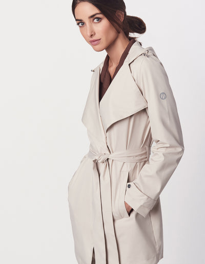 Fashion Hooded Trench Coat
