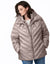 Ecoplume™ Hooded A-Line jacket with Bib - Extended Sizes
