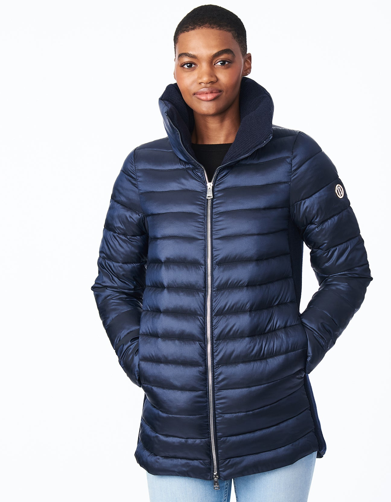 EcoPlume™ Oversize Packable Coat with Knit Side Trim